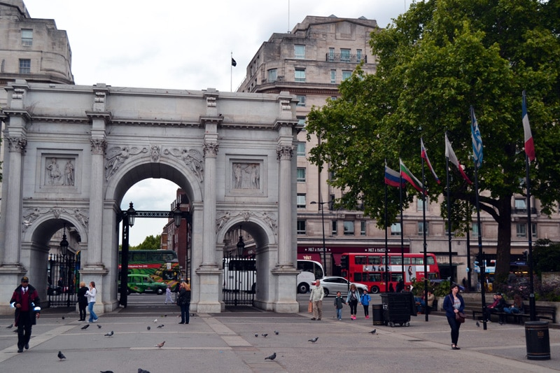 Silvester in London: Marble Arch in der Oxford Street