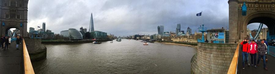 Blick von der London Bridge