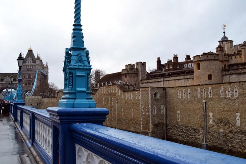Silvester in London: Tower Bridge in London, England