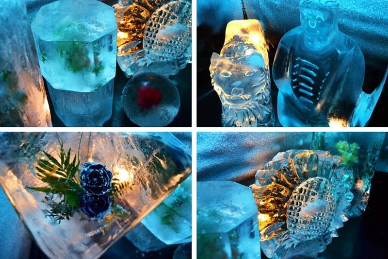 Eisskulptur im Eishäuschen Hallenberg von Joachim Knorra