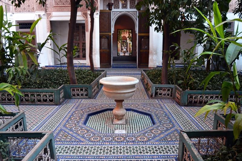 Mosaik im Bahia Palast in Marrakesch, Marokko