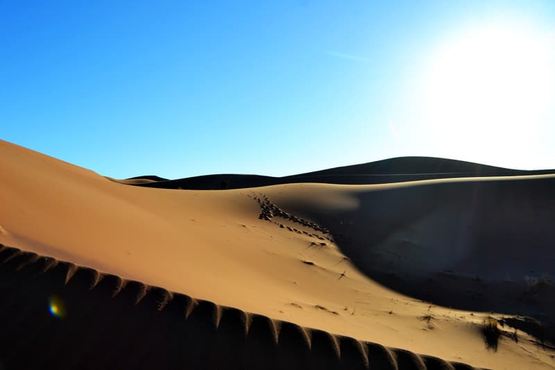 Dünen in der Sahara Wüste von Marokko