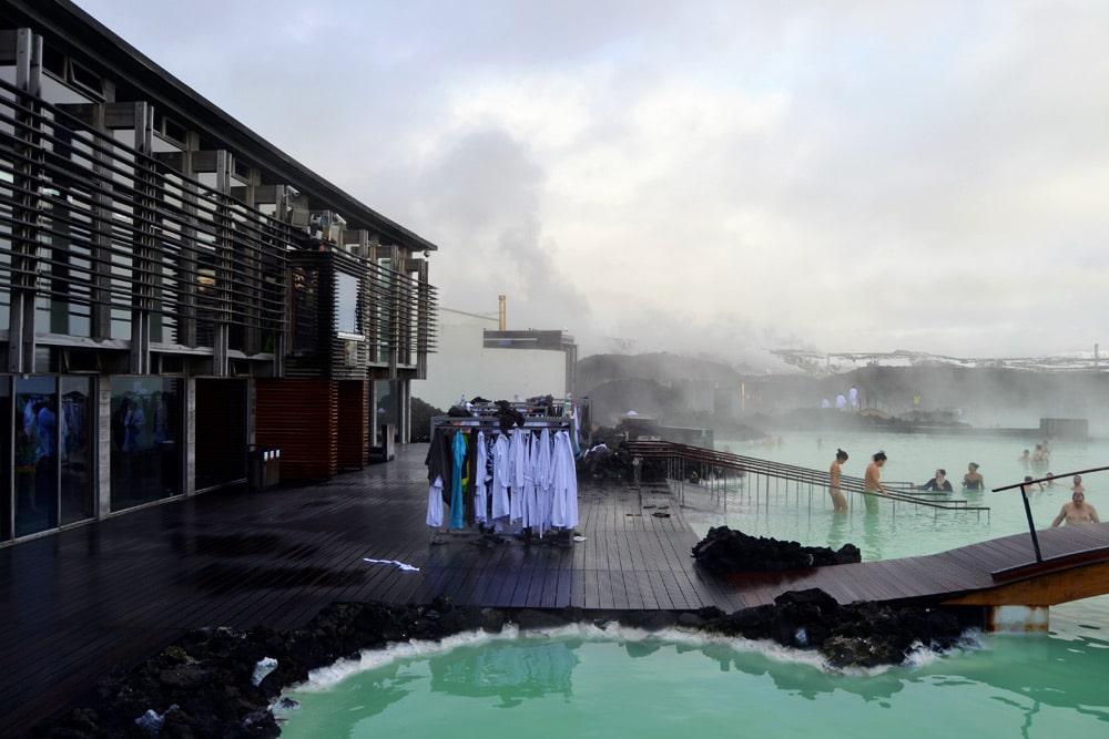Blaue Lagune in Island Thermalbecken und heiße Quellen - Blue Lagoon Iceland