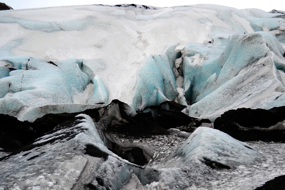 Island Südküste: Gletscher Solheimajökull