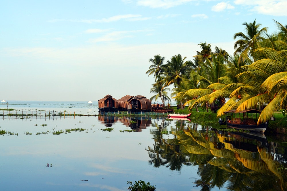 Die Kerala Backwaters in Indien