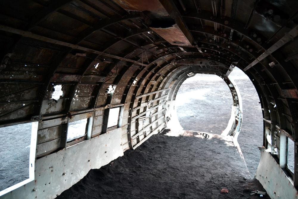 Island Südküste: Flugzeug Wrack bei Solheimasandur