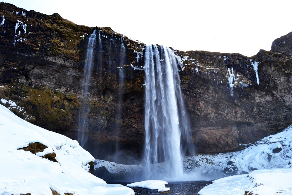 Island Südküste: Seljalandsfoss am Eyafjallajökull