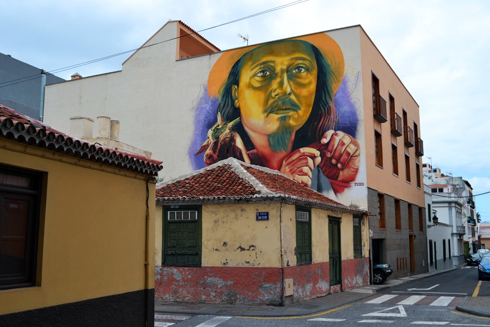 Streetart in Puerto de la Cruz - Graffiti auf Teneriffa