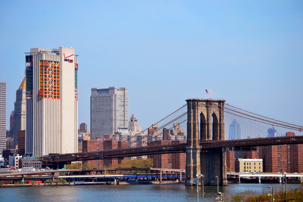 Brooklyn Heights Blick auf die Brooklyn Bridge