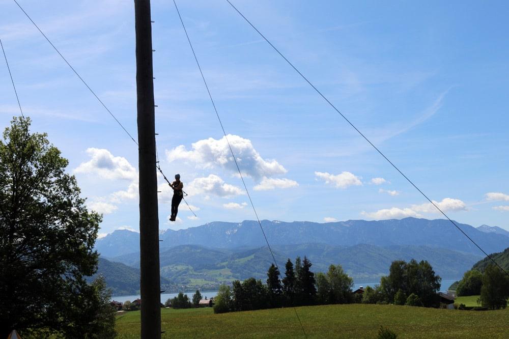 Hochseilgarten Attersee - Klettergarten in Österreich