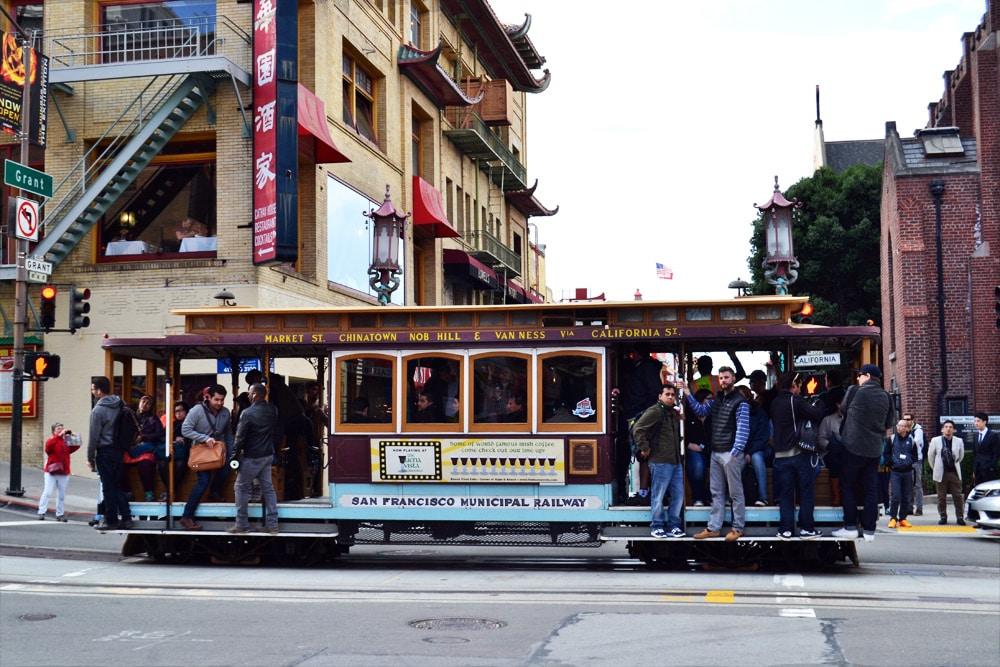 San Francisco Cable Car Straßenbahn
