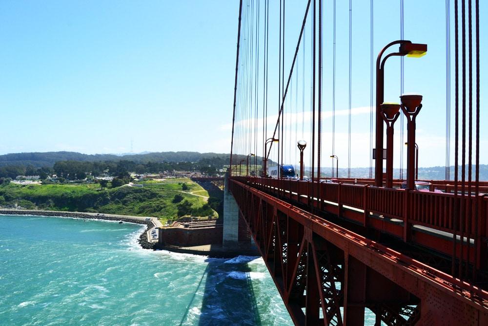 San Francisco Golden Gate Bridge Aussicht