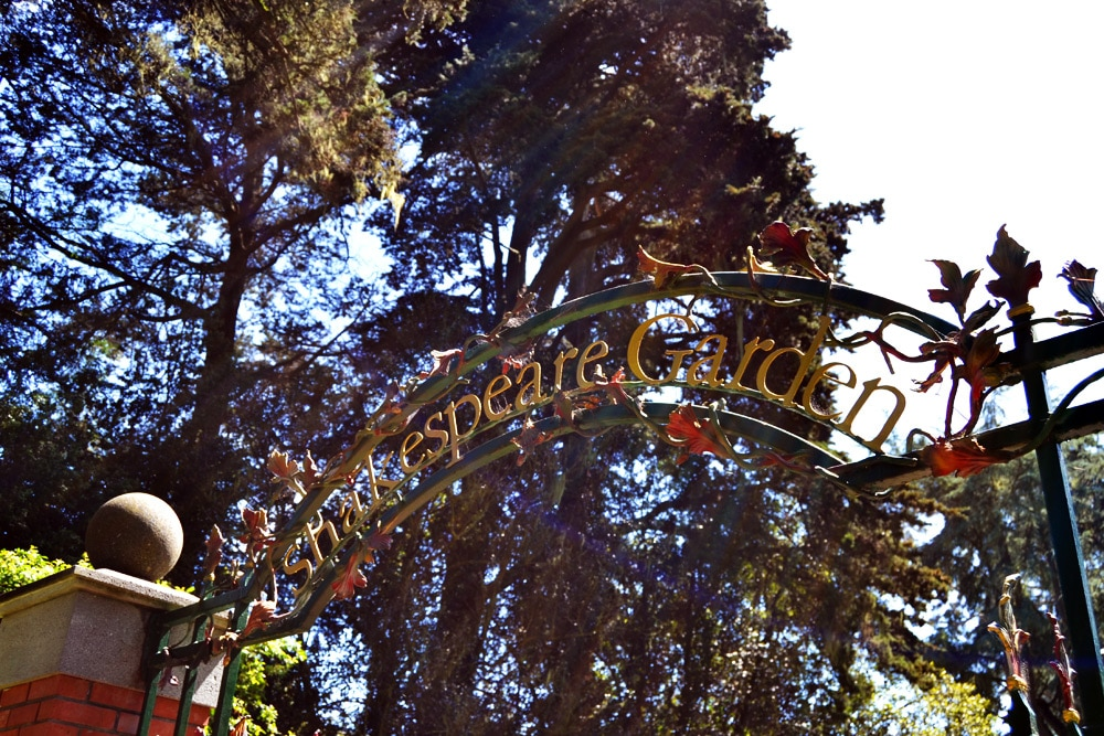 Golden Gate Park San Francisco Shakespeare Garden