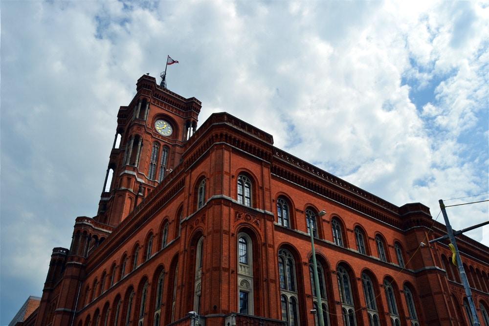 Berlin Rotes Rathaus am Alexanderplatz