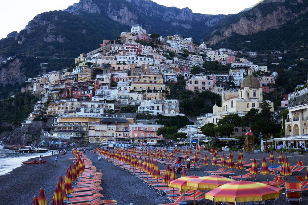 Positano Strand, Amalfiküste Italien