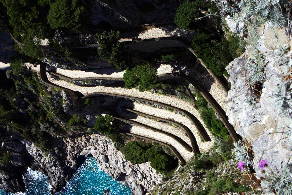 Via Krupp auf Capri, Amalfiküste Italien