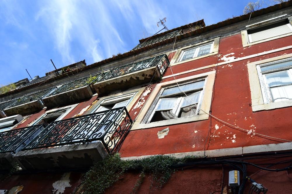Lissabon Portugal Architektur bunte Häuser