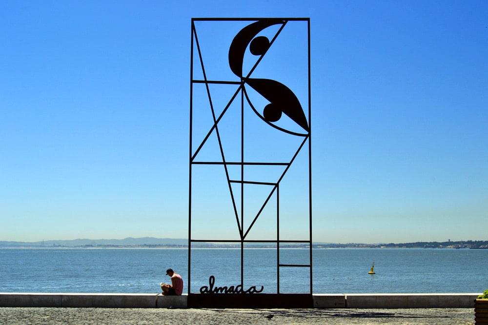 Lissabon Hafen Promenade