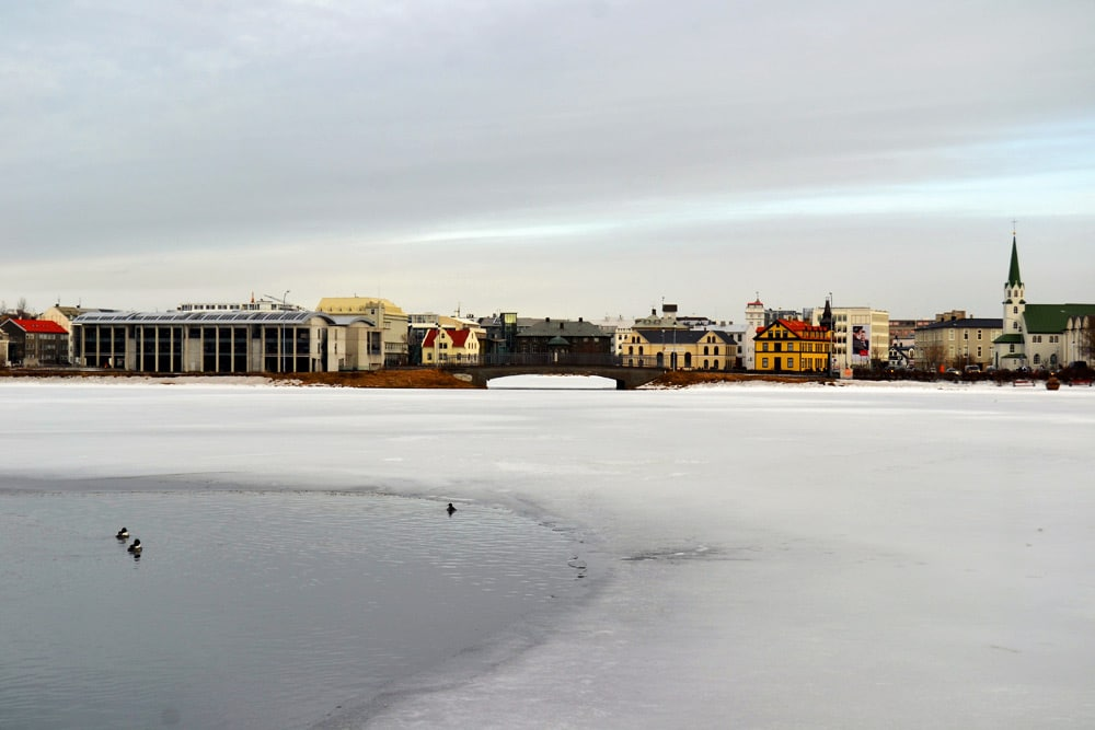 Island Reykjavik Skyline