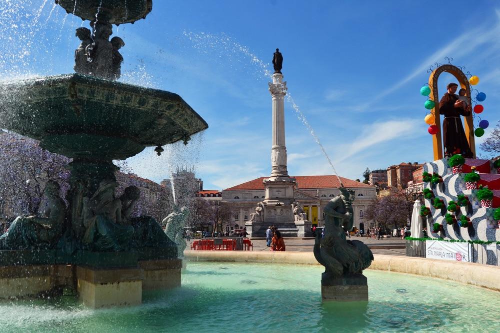 Praça de D. Pedro IV - Rossio Square - Lissabon Portugal
