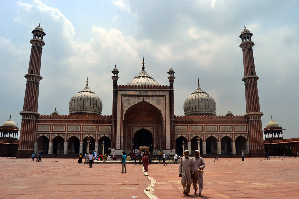 Jama Masjid Moschee in Old Delhi, Indien