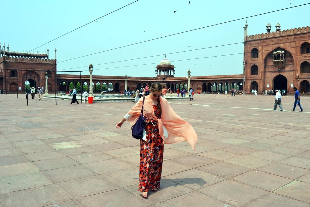 Jama Masjid Moschee in Old Delhi