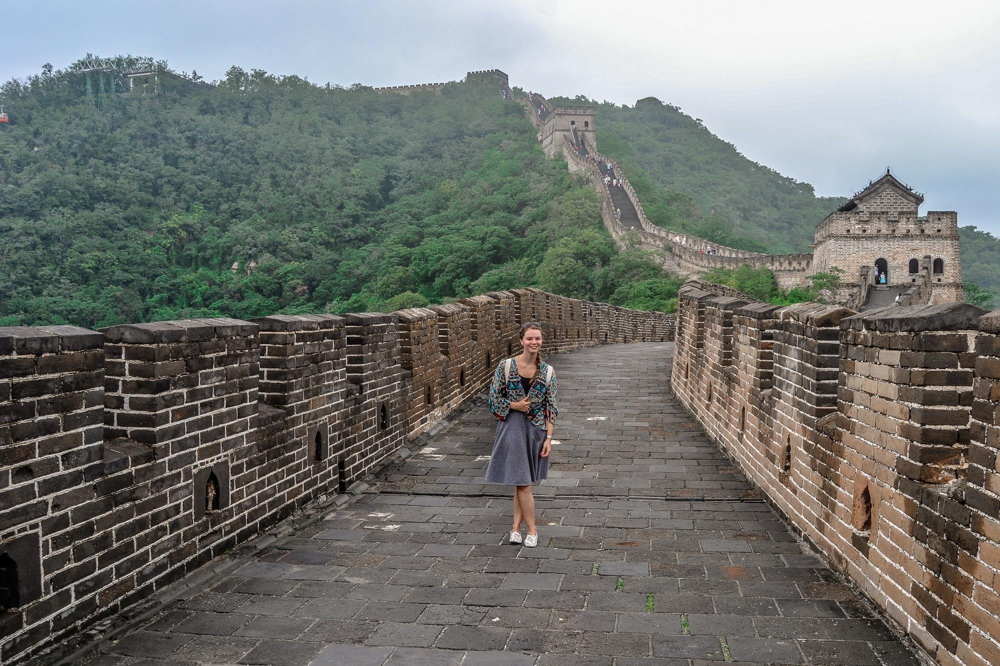 Chinesische Mauer von Peking nach Mutianyu