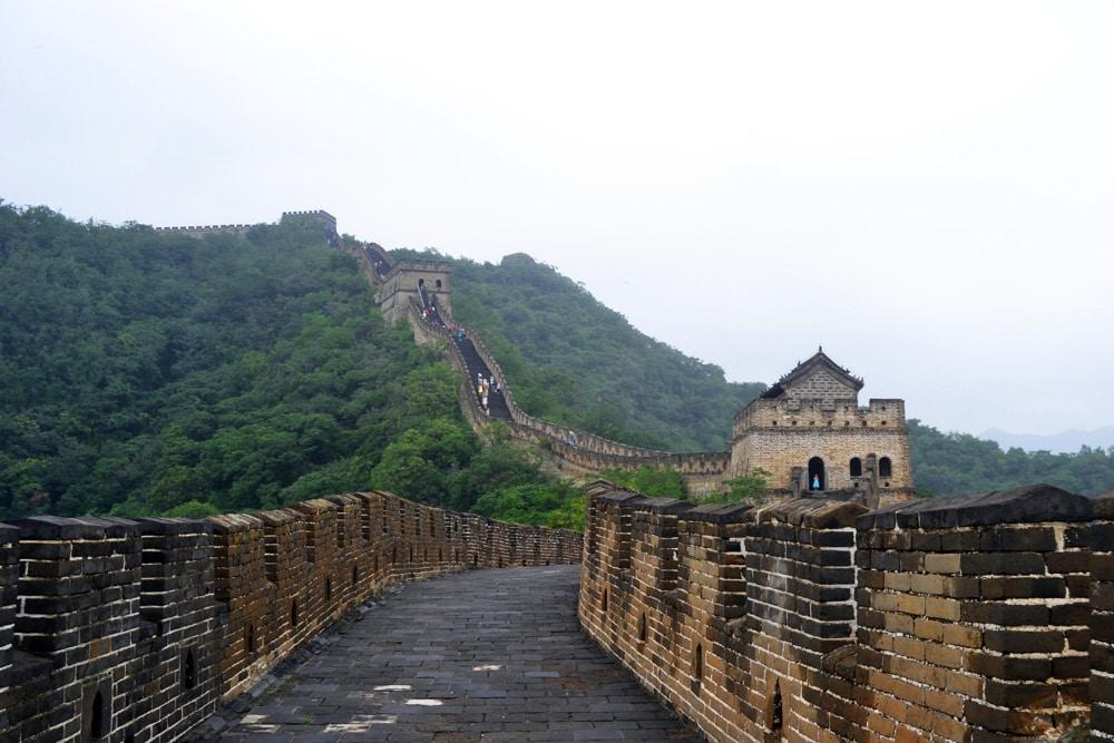 Chinesische Mauer Mutianyu Große Mauer in China