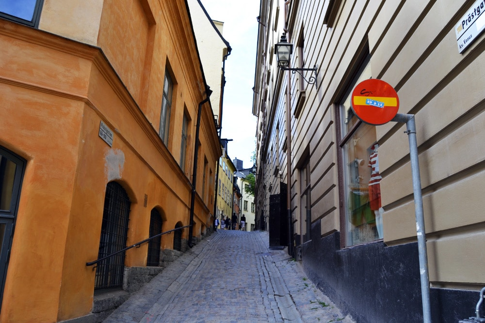 Gamla Stan Stockholm verwinkelte Gassen