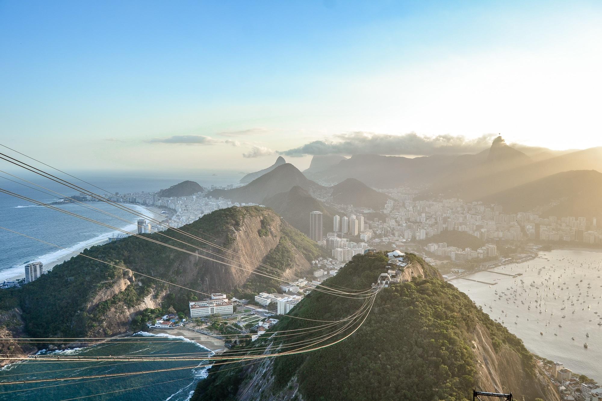Rio de Janeiro: Der Zuckerhut Pao de Acucar in Brasilien