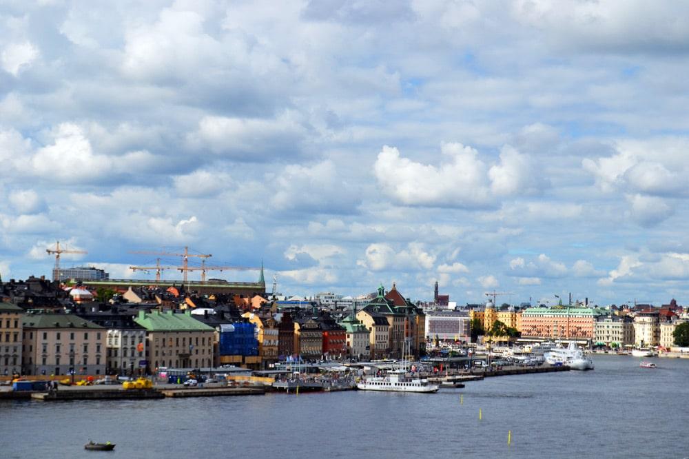 Aussicht von der Insel Södermalm auf Stockholm