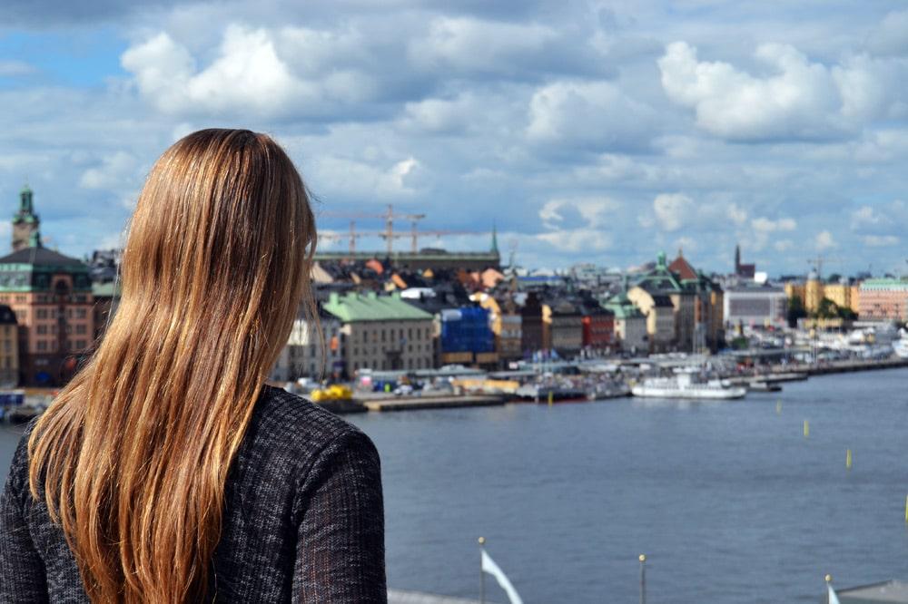 Stockholm Aussicht von der Insel Södermalm