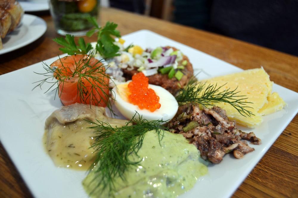 Stockholm Fisch und Meeresfrüchte im Tysta Mari Östermalmhalle