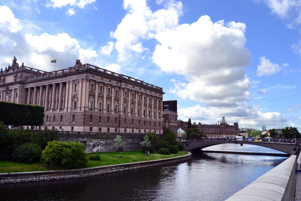 Parlament in Stockholm Schweden