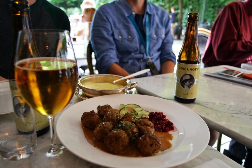 Stockholm Köttbullar im Restaurant Fem Sma Hus in Gamla Stan