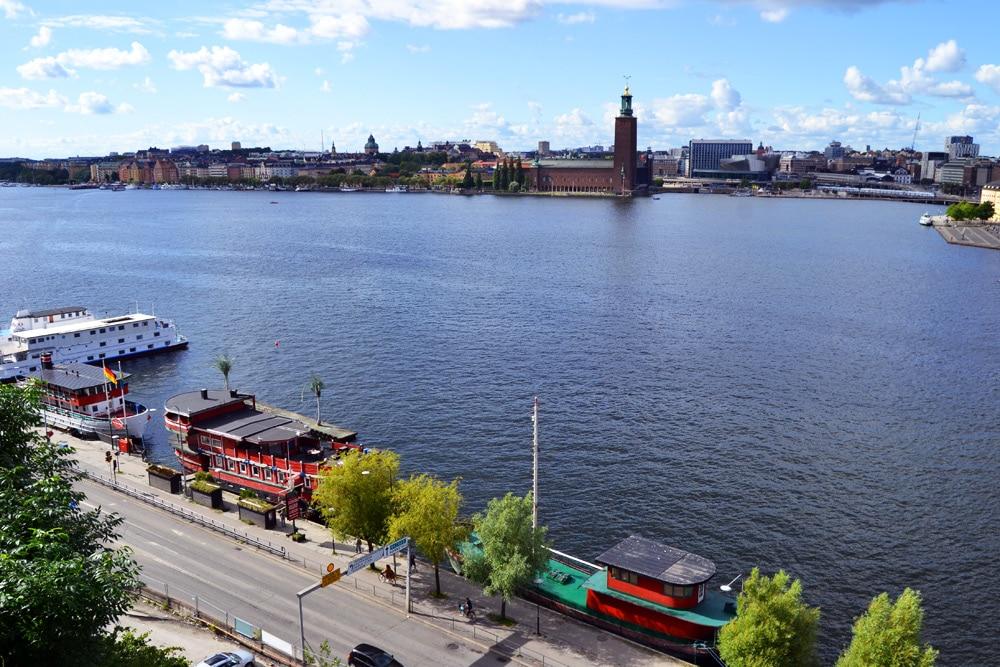 Stockholm Aussicht von der Insel Södermalm Ivar Los Park