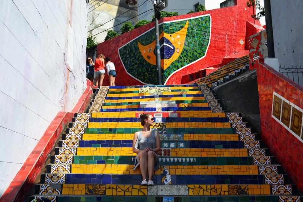 Rio de Janeiro Escadaria Selaron Treppe in Santa Teresa