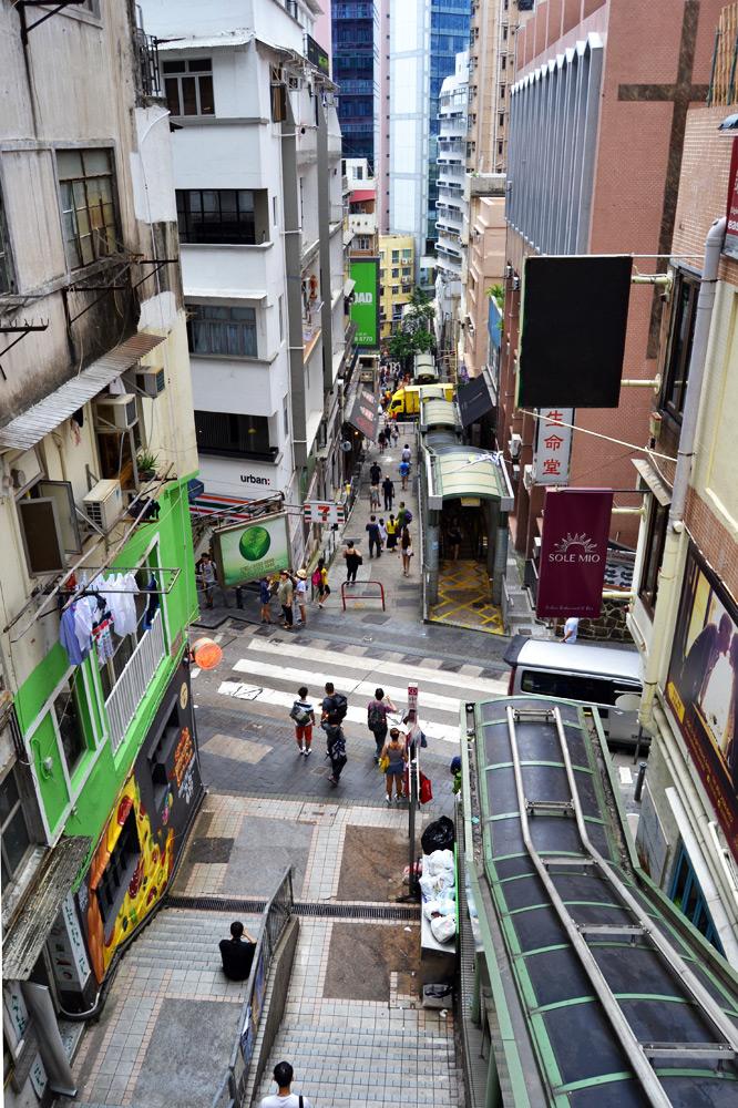 Hongkong Mid Levels Escalator Rolltreppe