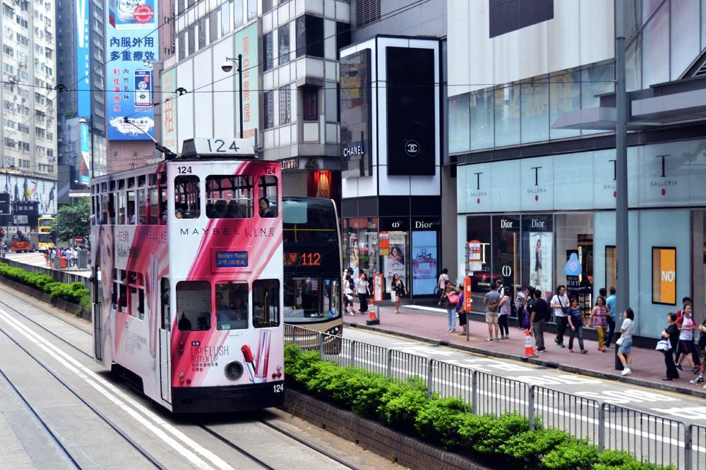 Hong Kong Tramways Doppeldecker Straßenbahn in Hongkong
