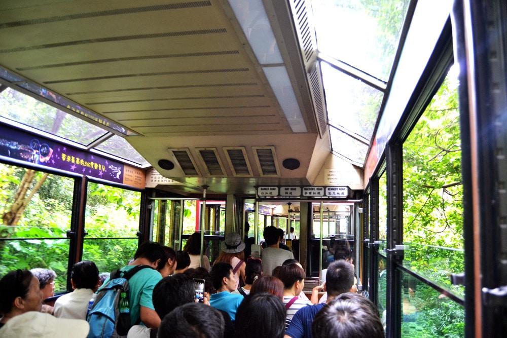 Hongkong Sehenswürdigkeiten Peak Tram Victoria Peak Aussicht