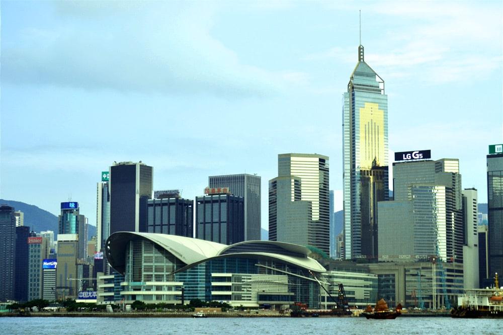 Hongkong Skyline Aussicht von der Star Ferry nach Kowloon