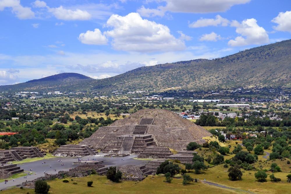Pyramiden von Teotihuacan Mexiko Stadt