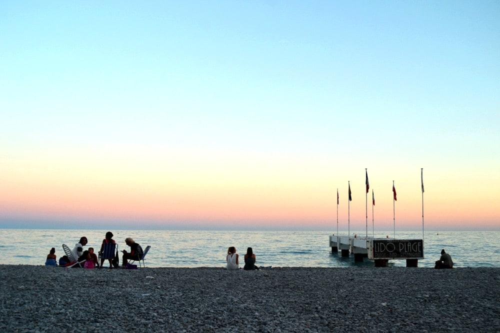 Lido Plage in Nizza, Frankreich