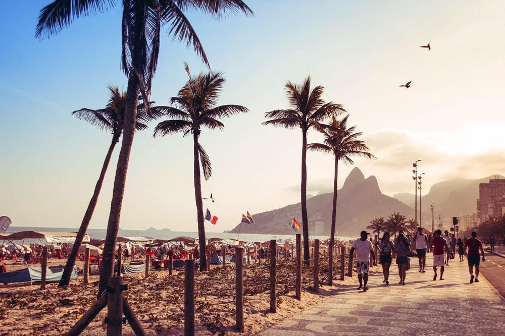 Rio de Janeiro Copacabana zum Sonnenuntergang