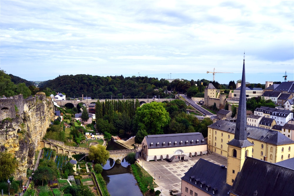 Luxembourg City Aussicht von oben