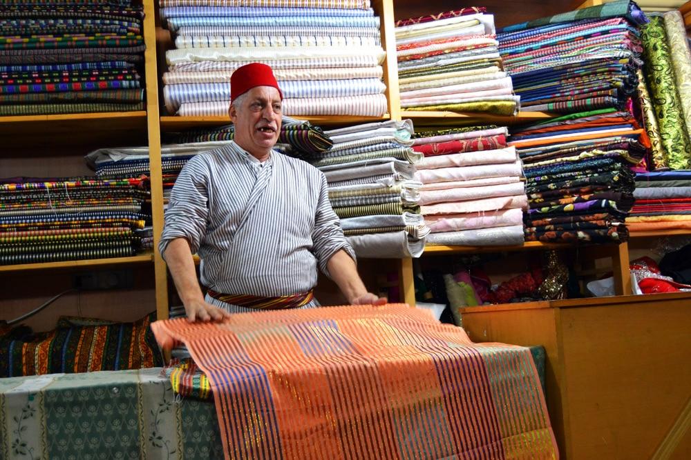 Markt in Jerusalem - Teppichhändler