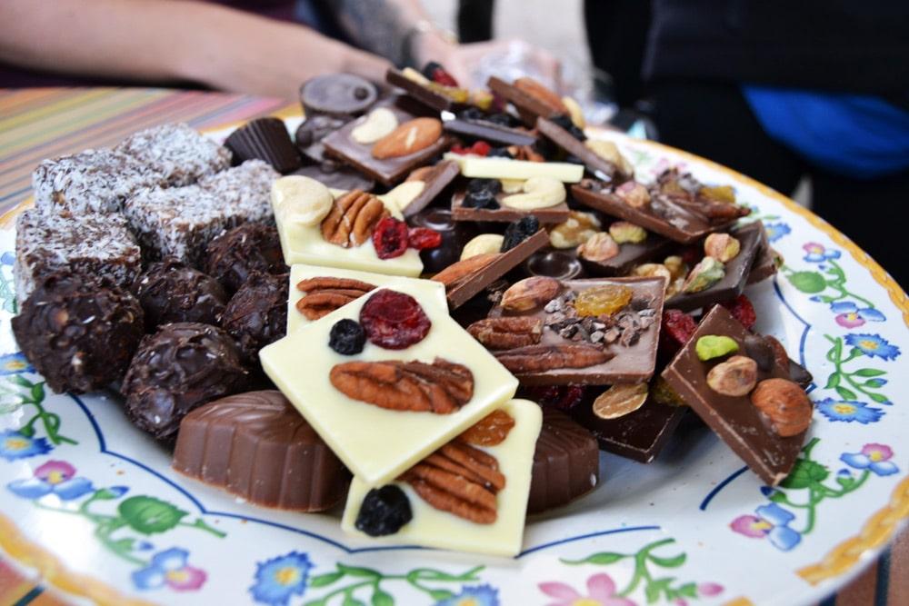 Schokolade aus Schokoladenmanufaktur in En Kerem, Jerusalem