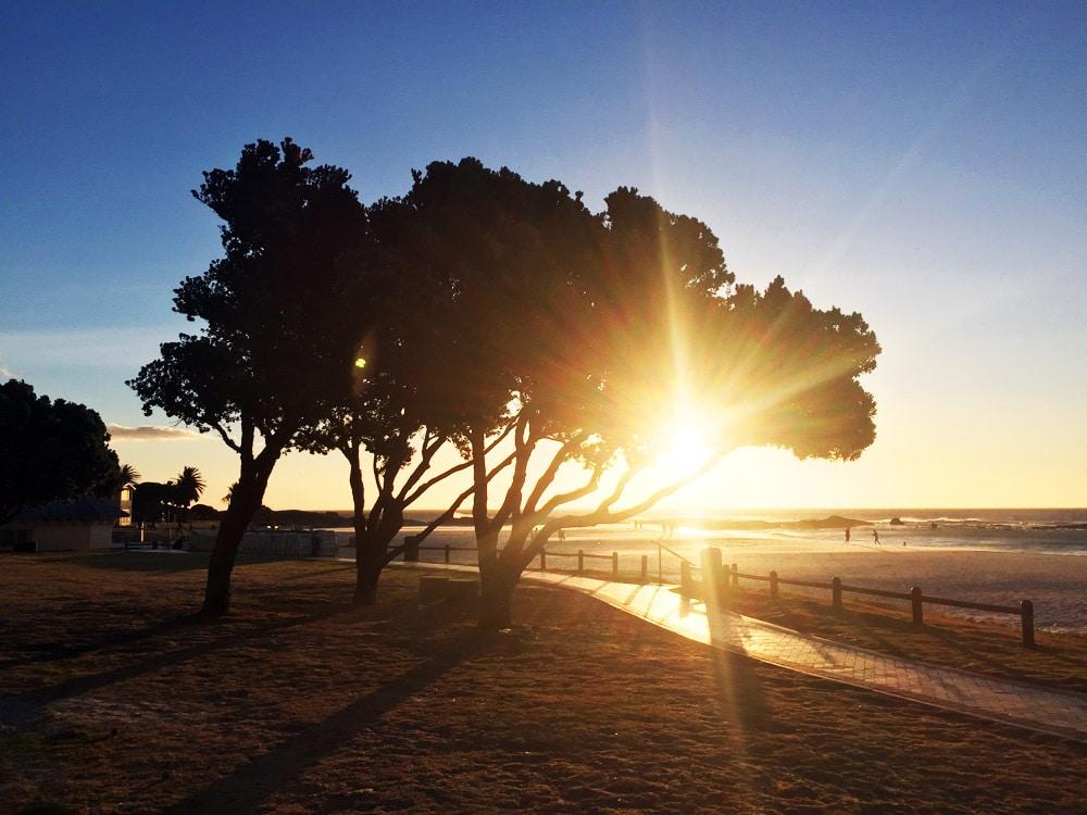 Camps Bay bester Sonnenuntergang Kapstadt