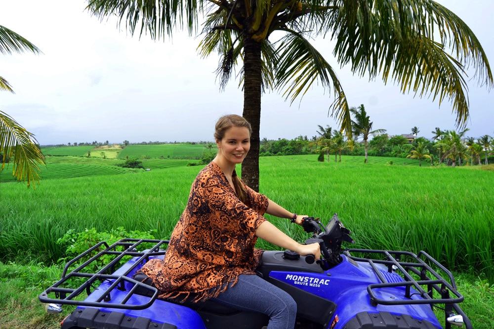 Sahaja Sawah Resort Bali Erfahrungsbericht: Quad ATV fahren