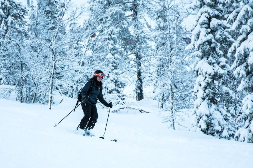Skifahren in Lappland
